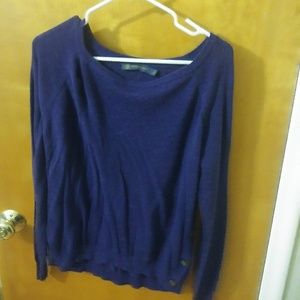 Purple sweater with side buttons